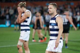 Cats skipper Joel Selwood after the loss to Port Adelaide.