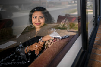 Erum Ali from Werribee hopes she never again has to take the train into the city for work.