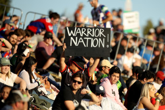 A fan pays tribute to the Warriors in their adopted northern NSW home.