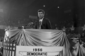 John F. Kennedy made a big impact when he addressed the Democratic Convention in 1956.