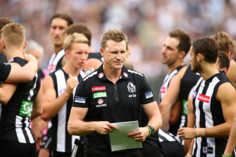 Nathan Buckley is stepping down as Collingwood coach.
