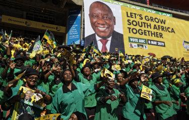 The ANC easily filled Ellis Park stadium in Johannesburg on Sunday.