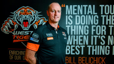 Mental toughness: Michael Maguire is bringing the pain at Wests Tigers.