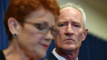 Pauline Hanson and Steve Dickson of One Nation try to spin their way out of a mess on Thursday.