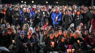 The vigil at Princes Park.