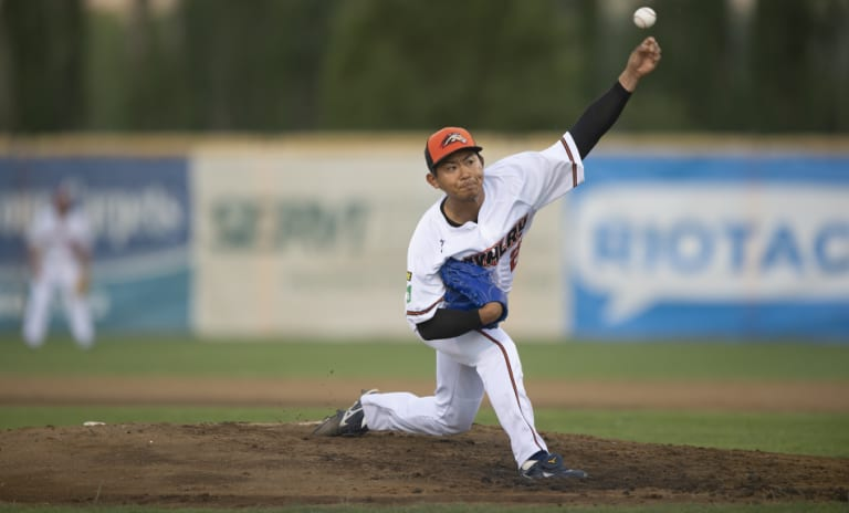 Canberra Cavalry pitcher Shota Imanaga.