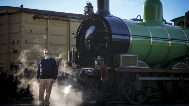 Joe Kellett runs heritage rail group Steamrail Victoria in Newport.