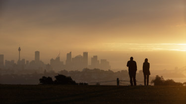 Heavy smoke haze over Sydney from Dover Heights.