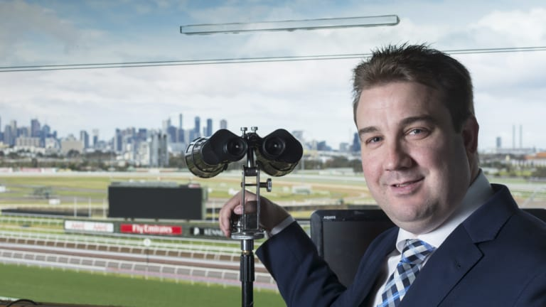Ready to roar: Matt Hill is looking to calling Winx as she attempts to win a fourth Cox Plate at Moonee Valley on Saturday