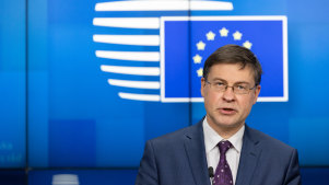 Valdis Dombrovskis, trade commissioner for the European Union (EU), said the sanctions made it too difficult to continue with the deal.