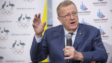 """Australian Olympic Committee president John Coates has accused his Sports Commission rival John Wylie of """"relevance deprivation""""."""