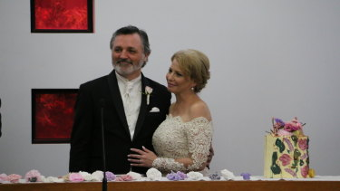 Former MPs Graham Watt and Rachel Carling married on Friday at St Thomas' Church in Burwood.