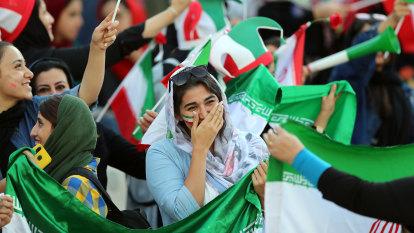 'Finally the gates are open': Iranian women celebrate landmark soccer moment