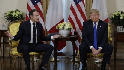 'A very, very nasty statement': Trump and Macron clash ahead of NATO summit