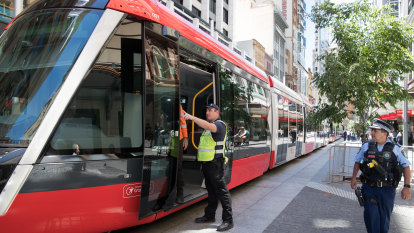 'This is peak NSW': CBD streets closed after new Sydney tram breaks down