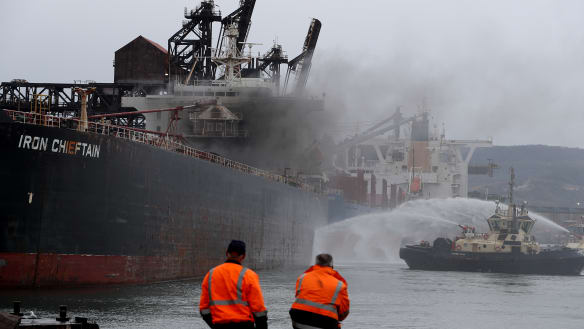 Port Kembla shut down due to cargo ship fire
