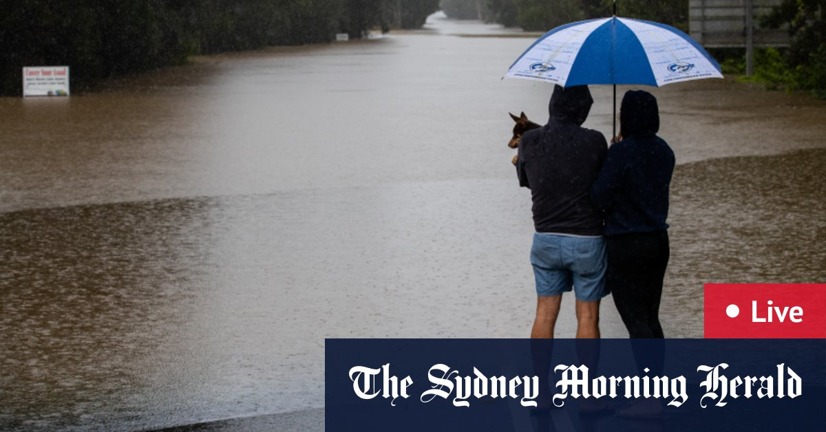 NSW floods LIVE updates: South Coast told to prepare for heavy rainfall as extreme weather event continues across state – The Sydney Morning Herald