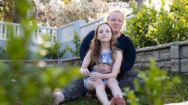 Kate Walther and her daughter, Lucy, 10 who will not return to school this year because of a chronic health condition.