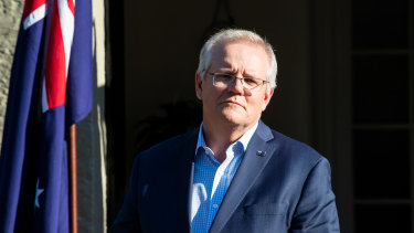 Scott Morrison landed in New York ahead of his one-on-one meeting with President Joe Biden.