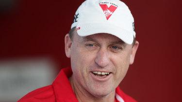 Swans coach John Longmire.