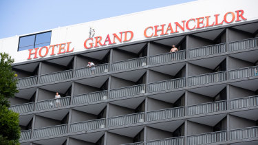 Brisbane's Hotel Grand Chancellor, where six cases have been linked back to.