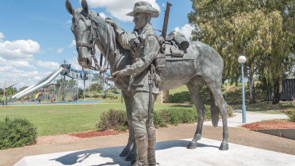 """""""Impossible to believe"""": Tribute to horse war heroes wins prize"""