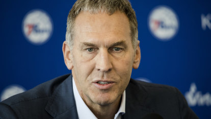'He was cleared': New Hawks owner defends former 76ers GM Colangelo