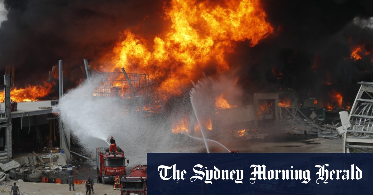 Huge fire breaks out at Beirut port a month after explosion – Sydney Morning Herald