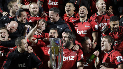 Crusaders complete another three-peat with grinding win over Jaguares