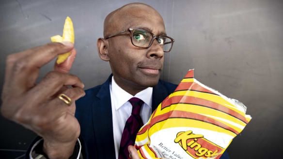 This man is the genius behind the Kingsley's 'awesome chips' tagline