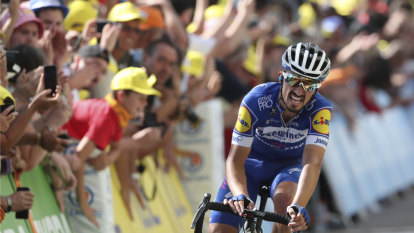 Alaphilippe reclaims yellow after brutal attack