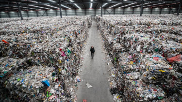 SKM's bankruptcy has left warehouses filled with tonnes and tonnes of recycling with nowhere to go.