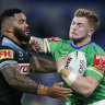 Raiders back in the finals mix after late burst against Sharks
