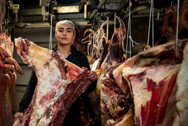 It is estimated that less than five per cent of Australian butchers are women, but change is coming.