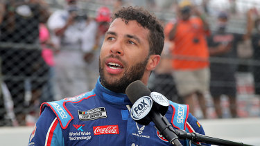 Bubba Wallace is the only African-American driver in the top-tier NASCAR series.