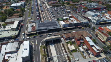 Bentleigh station is surrounded by car parks but only a few are for commuters.