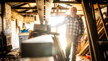 Rick Savickas attempted to start a furniture-making business out of his garage, but Victoria's lockdowns thwarted his attempt.