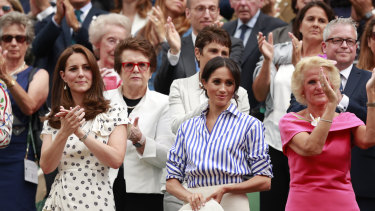 Meghan Markle at Wimbledon.