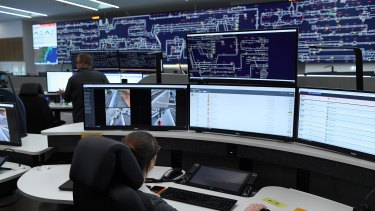 Staff at the Rail Operations Centre in Alexandria monitor the 11,000 cameras across the train network.