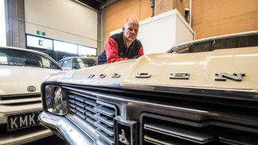 David Slater in his garage.