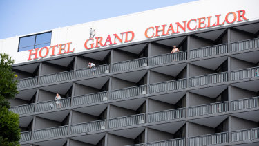 Brisbane's Hotel Grand Chancellor, where six cases have been linked.