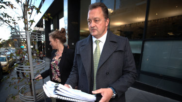 Former detective Paul Dale after giving evidence in the royal commission in June.