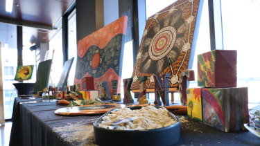 Four artists joined the art exhibition to help raise awareness.