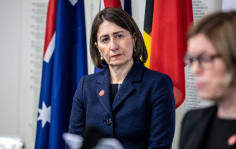 Premier Gladys Berejiklian said people should avoid physical contact at gatherings including weddings and funerals as the state recorded 17 new cases.