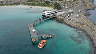 The existing ferry terminal on the far east of Kangaroo Island.