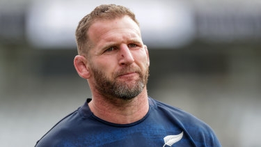 All Blacks skipper Kieran Read at the side's captain's run at Eden Park.