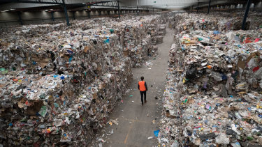Warehouses across Melbourne are stacked with waste.
