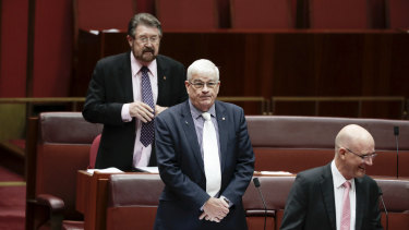 Senator Brian Burston in the Senate on Thursday morning.