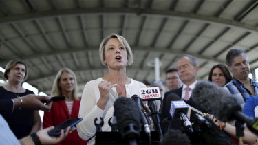 Kristina Keneally during Labor's failed election campaign.