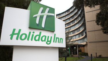 The Holiday Inn near Melbourne Airport.